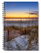 The Dunes At Sunset Spiral Notebook