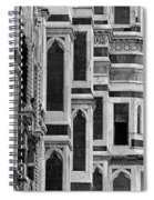 The Duomo Black And White Spiral Notebook