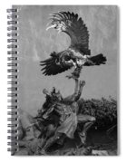 The Eagle And The Indian In Black And White Spiral Notebook