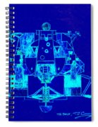 The Eagle Apollo Lunar Module In Blue Spiral Notebook