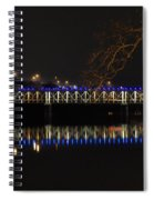 The East Falls Bridge At Night - Philadelphia Spiral Notebook