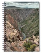 The Edge Of Back Canyon Spiral Notebook