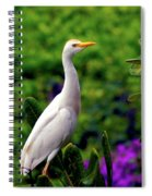 The Egret Outside My Window Spiral Notebook