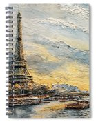 The Eiffel Tower- From The River Seine Spiral Notebook