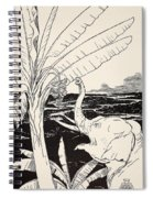 The Elephant's Child Going To Pull Bananas Off A Banana-tree Spiral Notebook