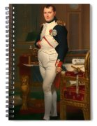 The Emperor Napoleon In His Study 1812 Spiral Notebook