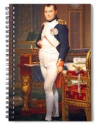 The Emperor Napoleon In His Study At The Tuileries By Jacques Louis David Spiral Notebook