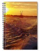 The End To A Fishing Day Spiral Notebook