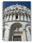 The Entrance To The Baptistery In Pisa  Spiral Notebook