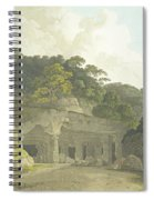 The Entrance To The Elephanta Cave Spiral Notebook
