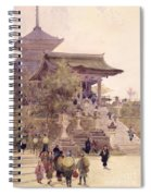 The Entrance To The Temple Of Kiyomizu Dera Kyoto Spiral Notebook
