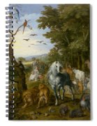 The Entry Of The Animals Into Noahs Ark Spiral Notebook