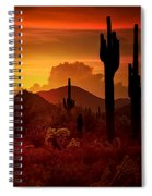 The Essence Of The Southwest Spiral Notebook