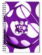 The Eternal Glass Purple Spiral Notebook