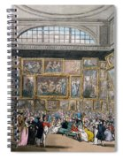 The Exhibition Room At Somerset House Spiral Notebook