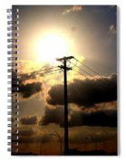 The Eye Of The Evening Sun Spiral Notebook