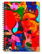 The Eyes Upon Us Painted Spiral Notebook