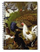 The Fable Of The Raven With A Peacock, Cockerel, Woodpecker, Jay, Woodcock, And Magpie Spiral Notebook