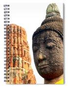 The Face Of A Buddha Spiral Notebook