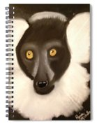 The Face Of A Lemur Spiral Notebook