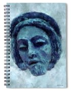 The Face Of Blue Spiral Notebook