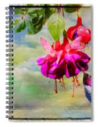 The Face Of Fuchsia Spiral Notebook