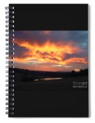 The Sunrise Face In The Clouds Spiral Notebook