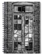 The Factory Window Bw Spiral Notebook