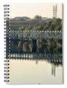 The Falls Bridge Over The Schuylkill River Spiral Notebook