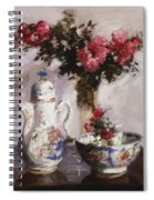 The Famille Rose Coffee Pot Spiral Notebook