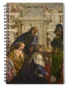 The Family Of Darius Before Alexander Spiral Notebook