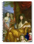 The Family Of Louis Xiv 1638-1715 1670 Oil On Canvas Detail Of 60094 Spiral Notebook