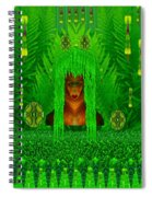 The Fantasy Girl In The Fauna  Spiral Notebook