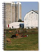 The Farm In Autumn Spiral Notebook