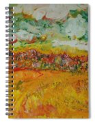 The Farmland Oil On Canvas Spiral Notebook