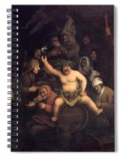 The Feast Of Bacchus, 1654 Spiral Notebook