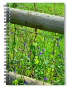The Fence At The Meadow Spiral Notebook