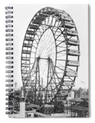The Ferris Wheel At The Worlds Columbian Exposition Of 1893 In Chicago Bw Photo Spiral Notebook