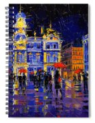 The Festival Of Lights In Lyon France Spiral Notebook