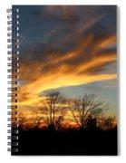 The Fiery Sky Spiral Notebook
