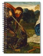 The Fight. St George Kills The Dragon Vi Spiral Notebook