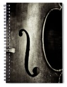 The Figure Of A Cello Spiral Notebook