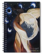 The Final Eclipse Before The Millenium Hand Embroidery  Spiral Notebook