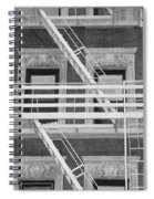 The Fire Escape In Black And White Spiral Notebook