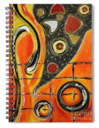 The Fires Of Charged Emotions Spiral Notebook