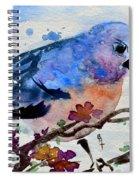 The First Bluebird Spiral Notebook
