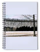 The First Snow New Hope Pa Spiral Notebook