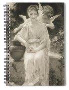 The First Whisper Of Love After Bouguereau Spiral Notebook