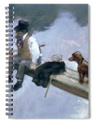 The Fisherman, Detail Of A Man Fishing Spiral Notebook