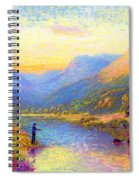 Fishing And Dreaming Spiral Notebook
